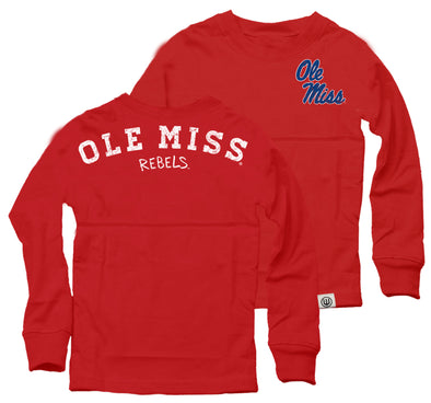 Wes & Willy Ole Miss Rebels Girl's Cheer Shirt