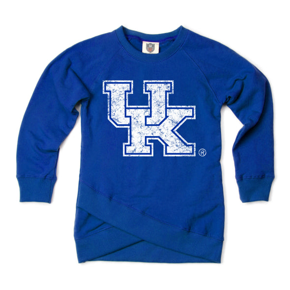 Wes & Willy Kentucky Wildcats Girl's Crossover Fleece Top