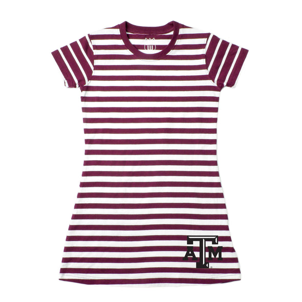 Wes & Willy Texas A&M Aggies Girl's Striped Dress