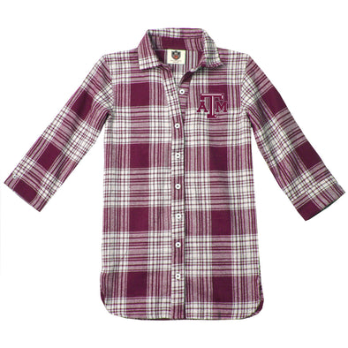 Wes & Willy Texas A&M Aggies Girl's Plaid Dress