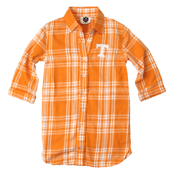 Wes & Willy Tennessee Volunteers Girl's Plaid Dress