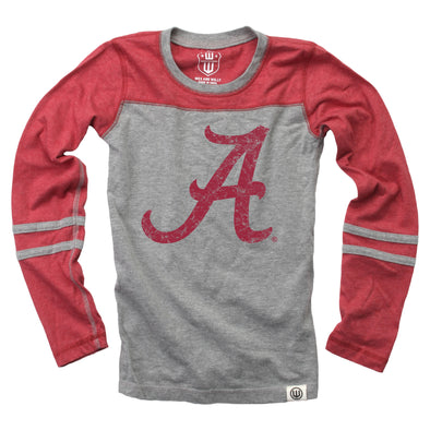 Wes & Willy Alabama Crimson Tide Girl's Blend Jersey Top