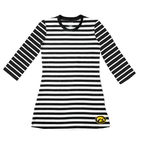 Wes & Willy Iowa Hawkeyes Girl's 3/4 Sleeve Dress