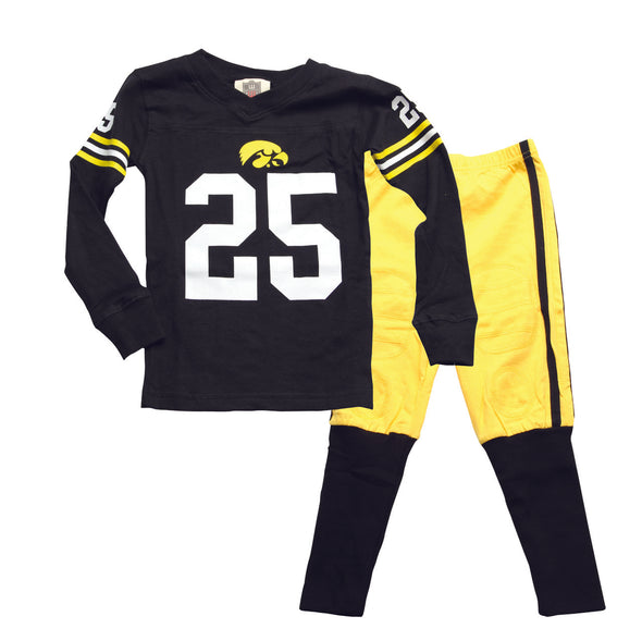 Wes & Willy Iowa Hawkeyes Football Pajamas