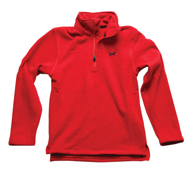 Jack Thomas Boys 1/4 Zip Pullover-Red