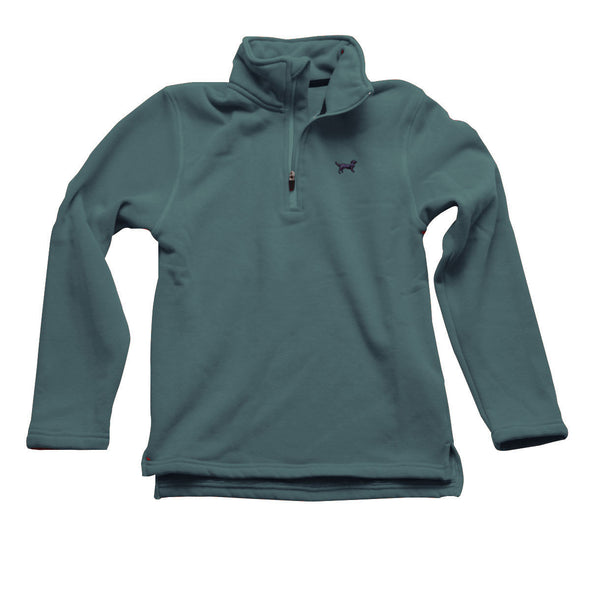 Jack Thomas Boys 1/4 Zip Pullover-Evergreen