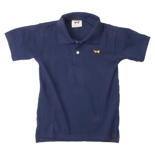 Wes & Willy Classic Short Sleeve Pique Polo/Navy
