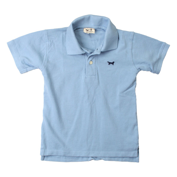 Wes & Willy Classic Short Sleeve Pique Polo/NC Blue