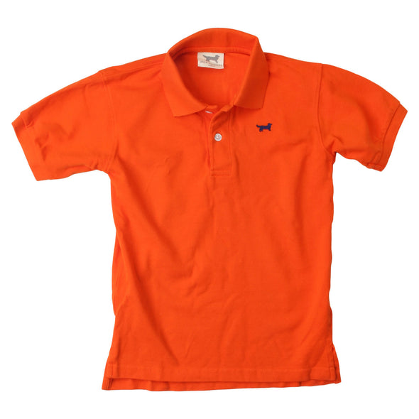 Wes & Willy Classic Short Sleeve Pique Polo/Orange