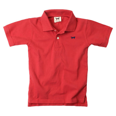 Wes & Willy Classic Short Sleeve Pique Polo/Red
