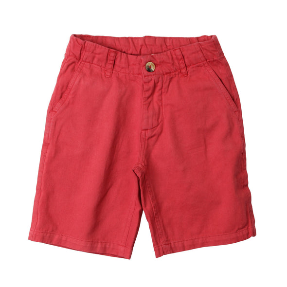 Wes & Willy JT Twill Short/Red