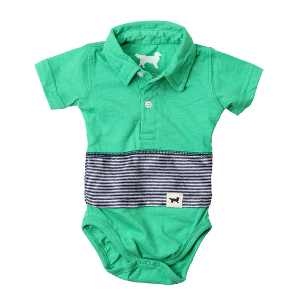 Wes & Willy Striped Polo Hopper/Irish