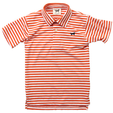 Jack Thomas Performance Stripe Shirt-Orange