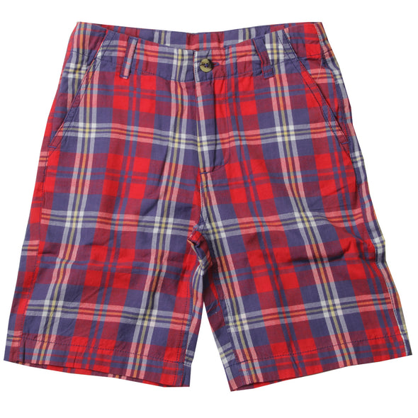 Jack Thomas Red & Blue Plaid Shorts