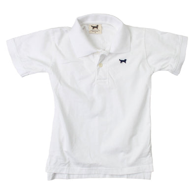 Jack Thomas Boy's Short Sleeve Jersey Polo-White