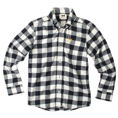 Jack Thomas Plaid Shirt-Black