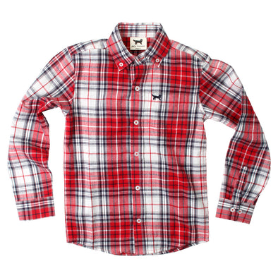 Jack Thomas Plaid Shirt-Red
