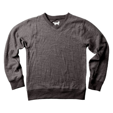 Jack Thomas V Neck Sweater-Black