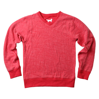Jack Thomas V Neck Sweater-Red
