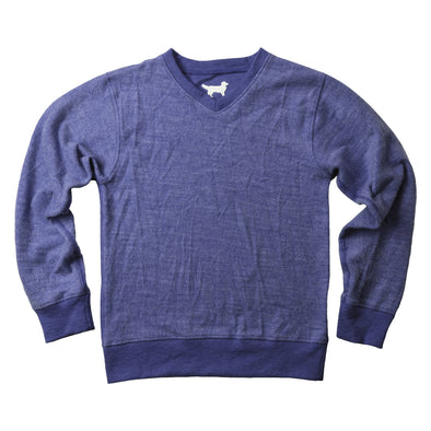 Jack Thomas V Neck Sweater-Navy