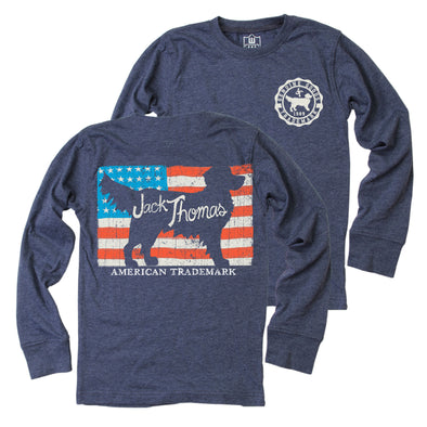 Jack Thomas Boy's Flag LS Tee