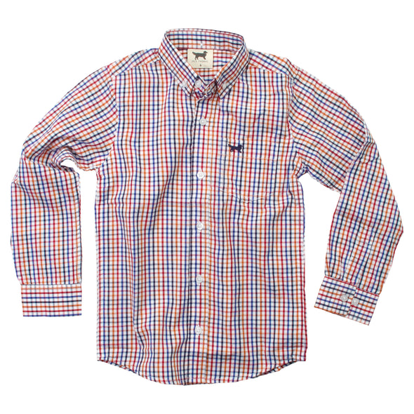 Jack Thomas L/S Buttoned Down Shirt/Red