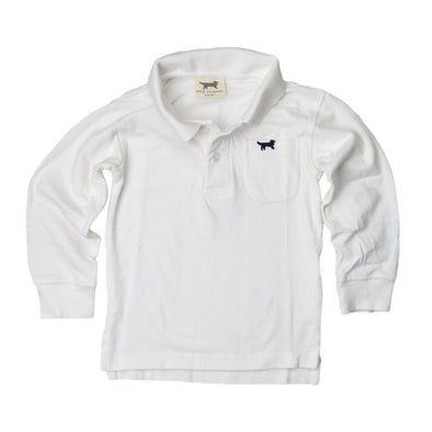 Jack Thomas Boys Long Sleeve Polo-White