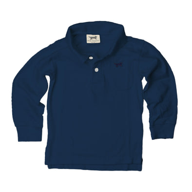 Jack Thomas Boys Long Sleeve Polo-Navy