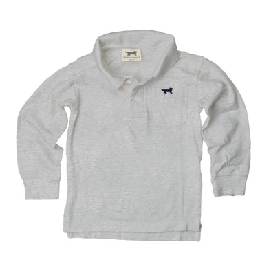 Jack Thomas Boys Long Sleeve Polo-Heather