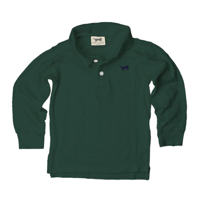 Jack Thomas Boys Long Sleeve Polo-Evergreen