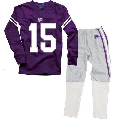 Wes & Willy Kansas State Wildcats Football Pajamas