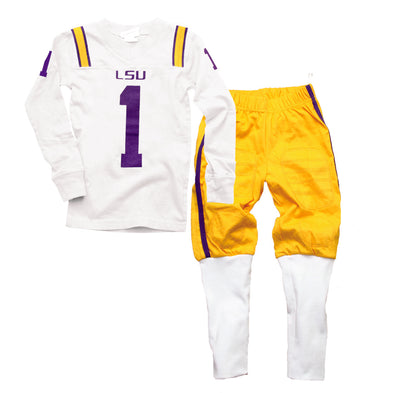 Wes & Willy LSU Tigers Football Pajama