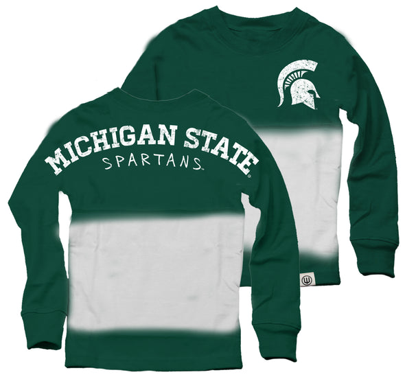 Wes & Willy Michigan State Spartans Girl's Dip Dyed Spirit Tee