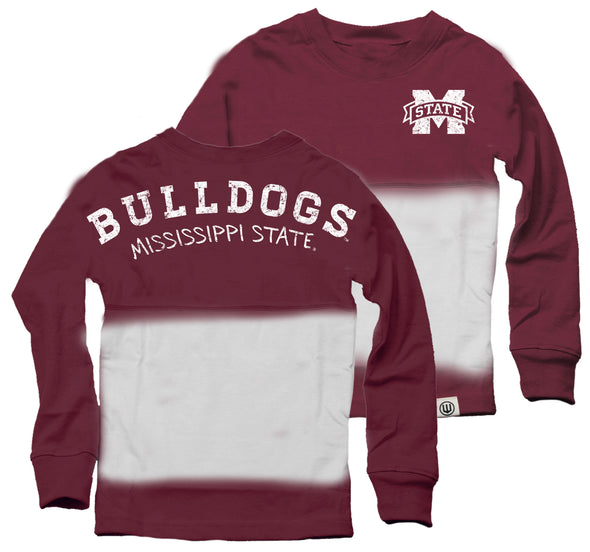 Wes & Willy Mississippi State Bulldogs Girl's Dip Dyed Spirit Tee