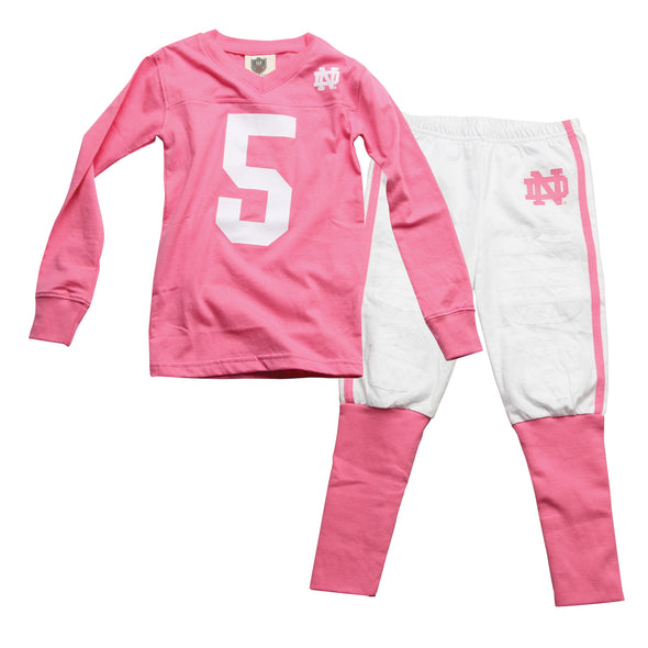 Wes & Willy Notre Dame Girl's Football Pajama