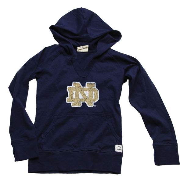 Wes & Willy Notre Dame Girl's Jersey Hoodie