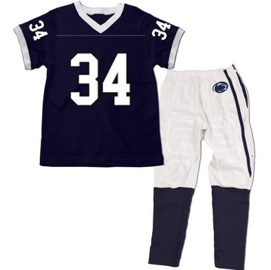 Wes & Willy Penn State Nittany Lions SS Football Pajama