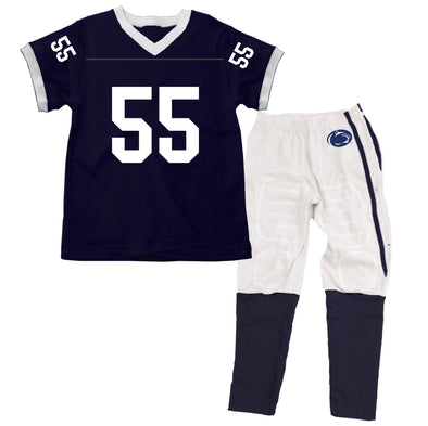 Wes & Willy Penn State Nittany Lions #55 SS Football Pajama