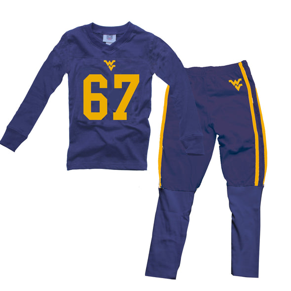 Wes & Willy Boy's West Virginia Mountaineers Football Pajamas