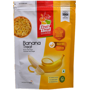Vacuum Fried (No Oil) Natural Banana Chips - Fruit Treat India - Healthy & Nutritious Banana Treat