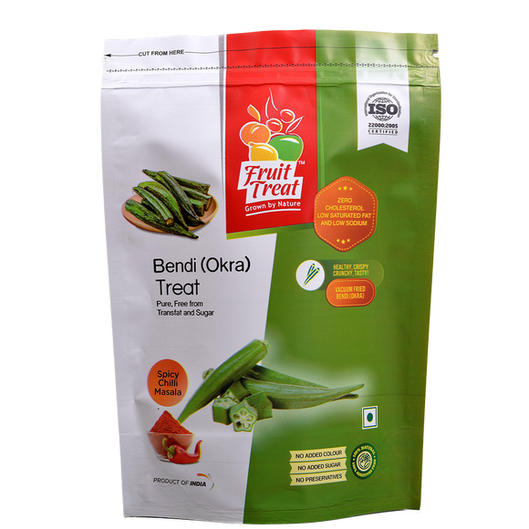Vacuum Fried (No Oil) Natural Okra (Bendi) Treat - Fruit Treat India - Healthy & Nutritious Bendi Treat