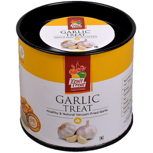 Vacuum Fried (No Oil) Natural Garlic Treat - Fruit Treat India - Healthy & Nutritious Garlic Treat