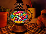 Autumn Leaves - Set of 2 Colourful Vintage Electric Lanterns