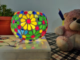 Tea Light Holders - Set of 4 Multicolour Floral Design holders