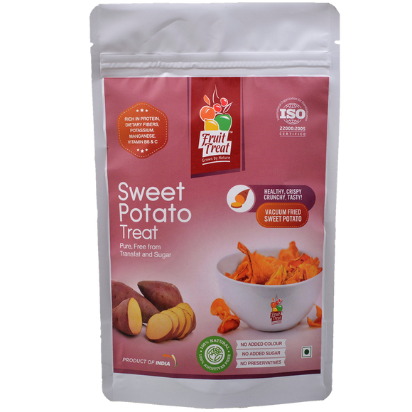 Vacuum Fried (No Oil) Natural Sweet Potato Chips - Fruit Treat India - Healthy & Nutritious Sweet Potato Treat
