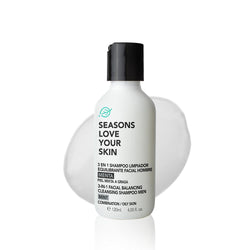 3 en 1 Shampoo Limpiador Equilibrante Facial Hombre Menta - Seasons Love Your Skin - SEO Optimizer