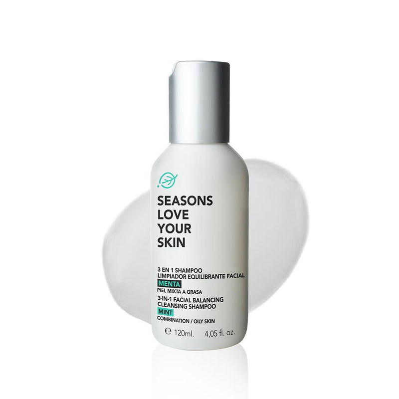 3 en 1 Shampoo Limpiador Equilibrante Facial Menta - Seasons Love Your Skin - SEO Optimizer