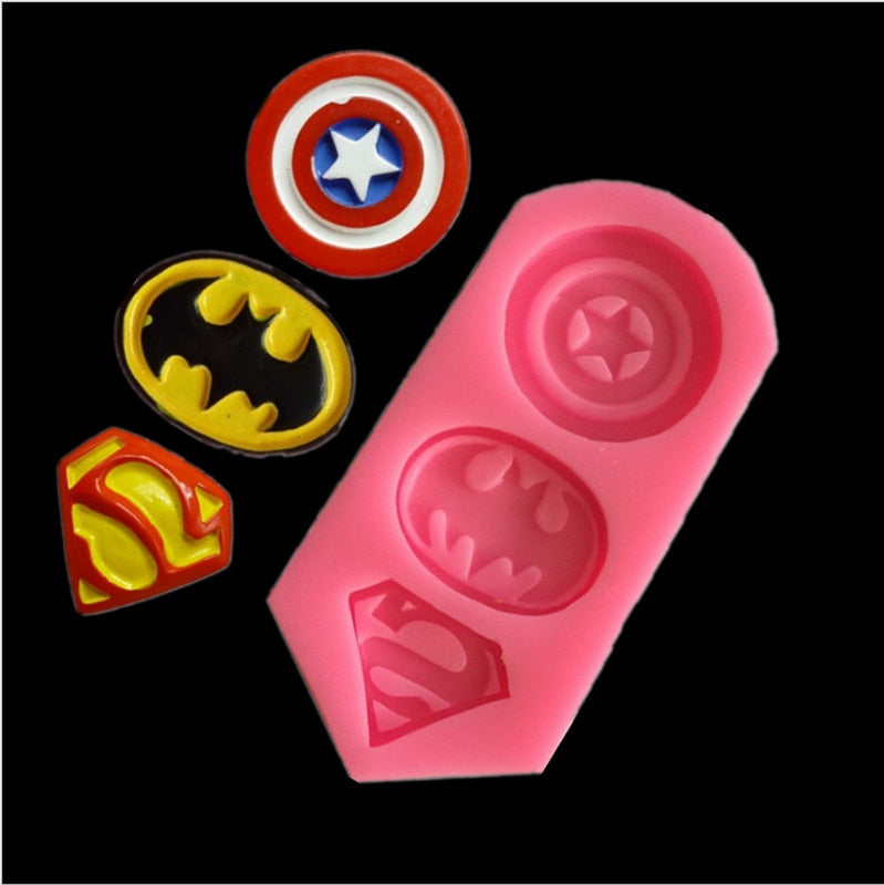 3D Captain America, Batman ,Superman Mold