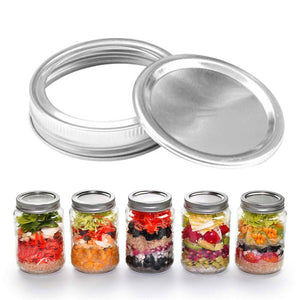 10 set Canning Lids with Canning Bands