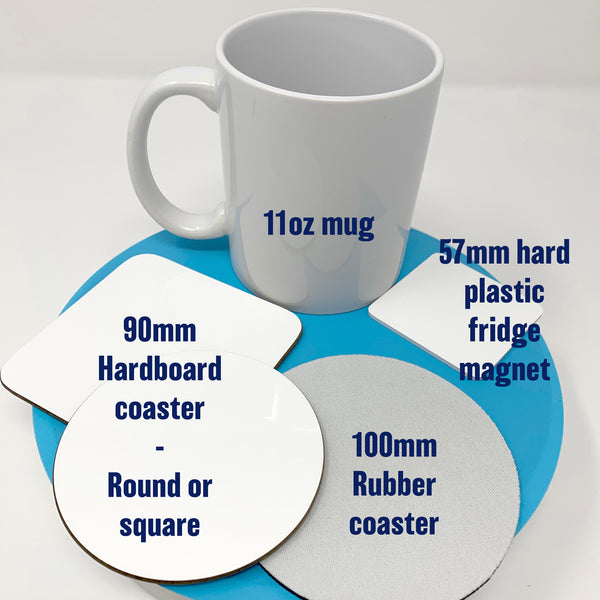 Product info - coasters and magnets - Which is best for you?